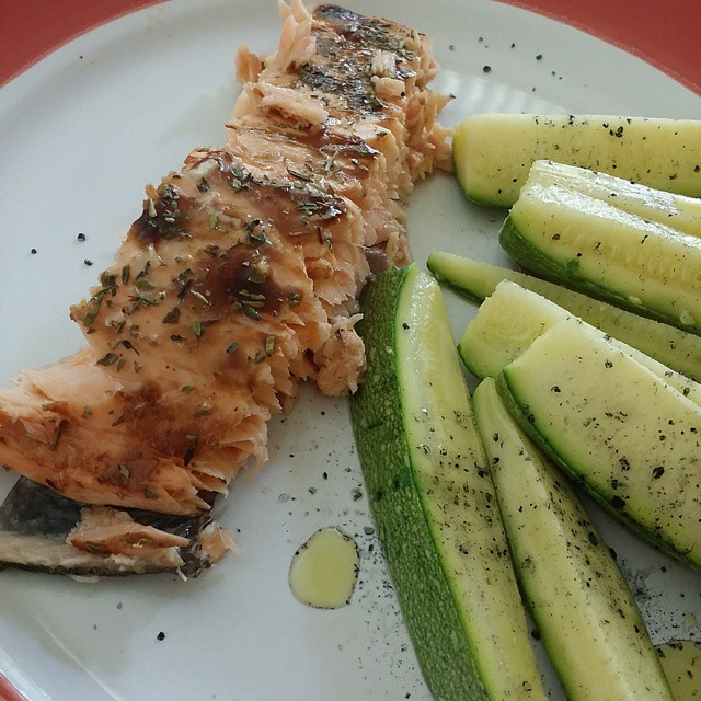 salmon en salsa de limon real